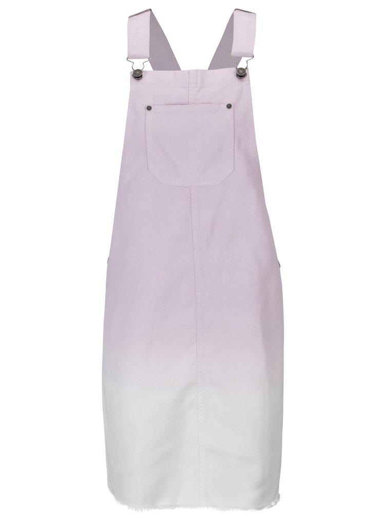Bílo-fialové džínové šaty s laclem Noisy May Viola