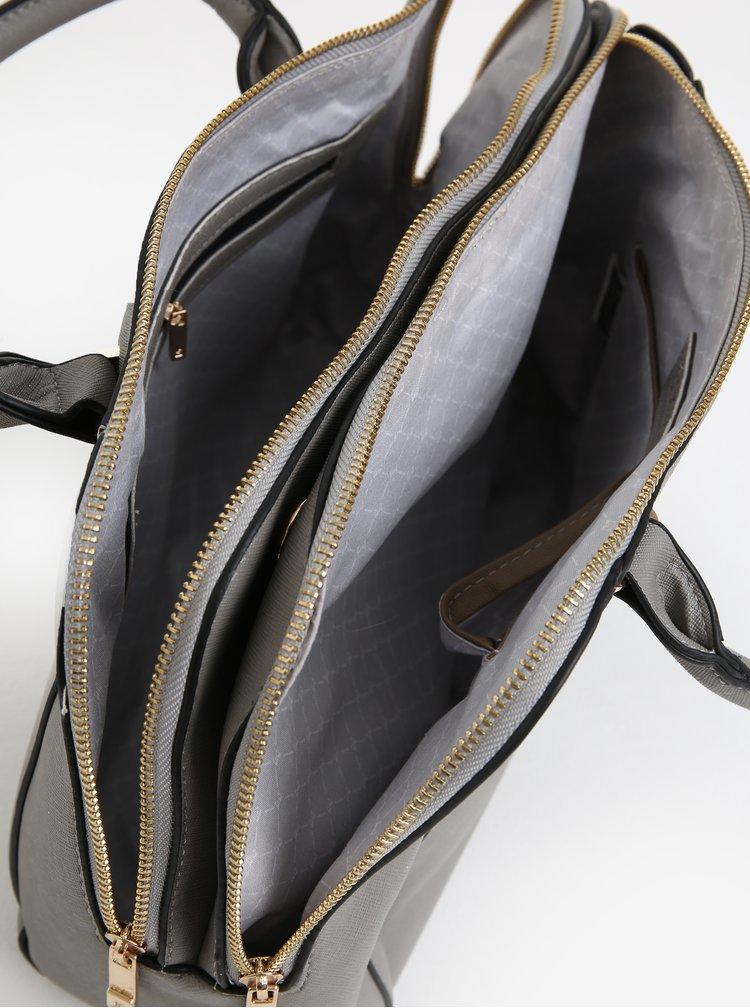 Šedá kabelka se zipy ve zlaté barvě Esoria Polines