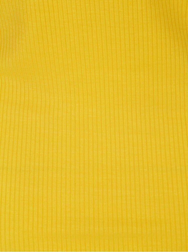Žluté žebrované tílko Noisy May Milda