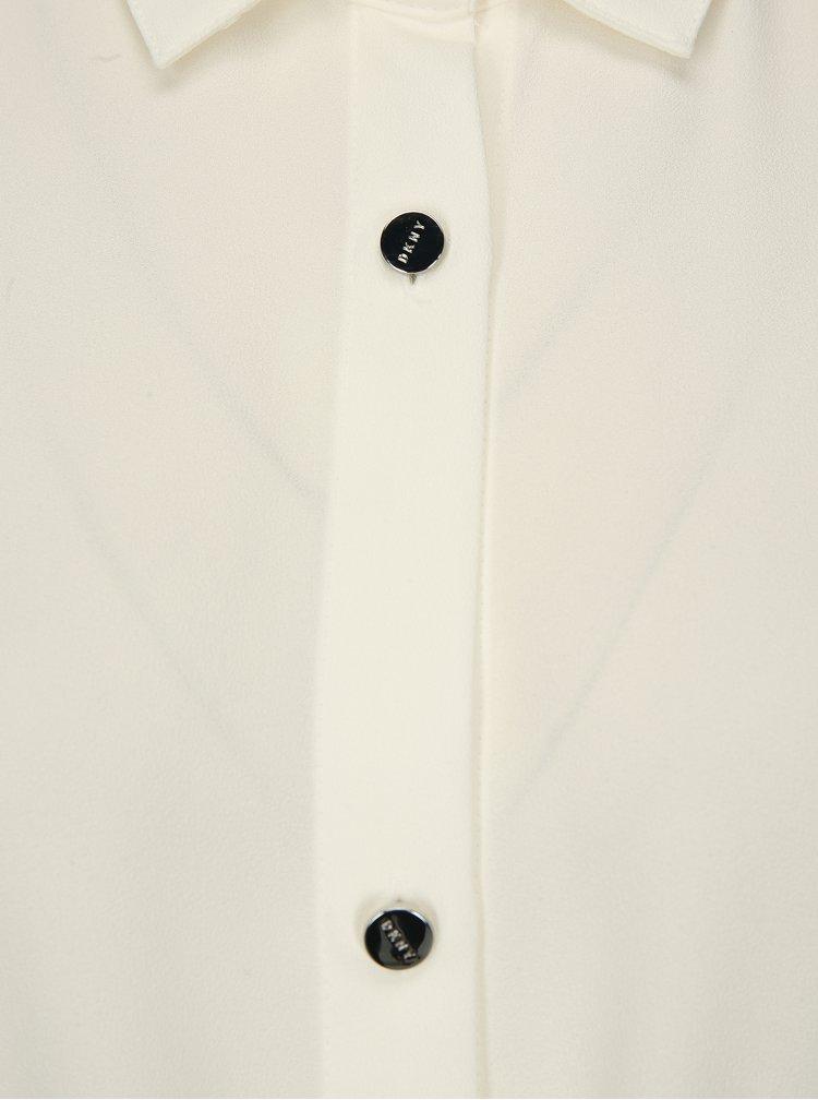 Krémová halenka se stahováním v pase DKNY