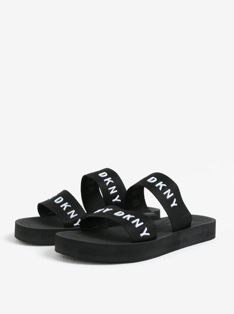Bielo-čierne šľapky DKNY Millie