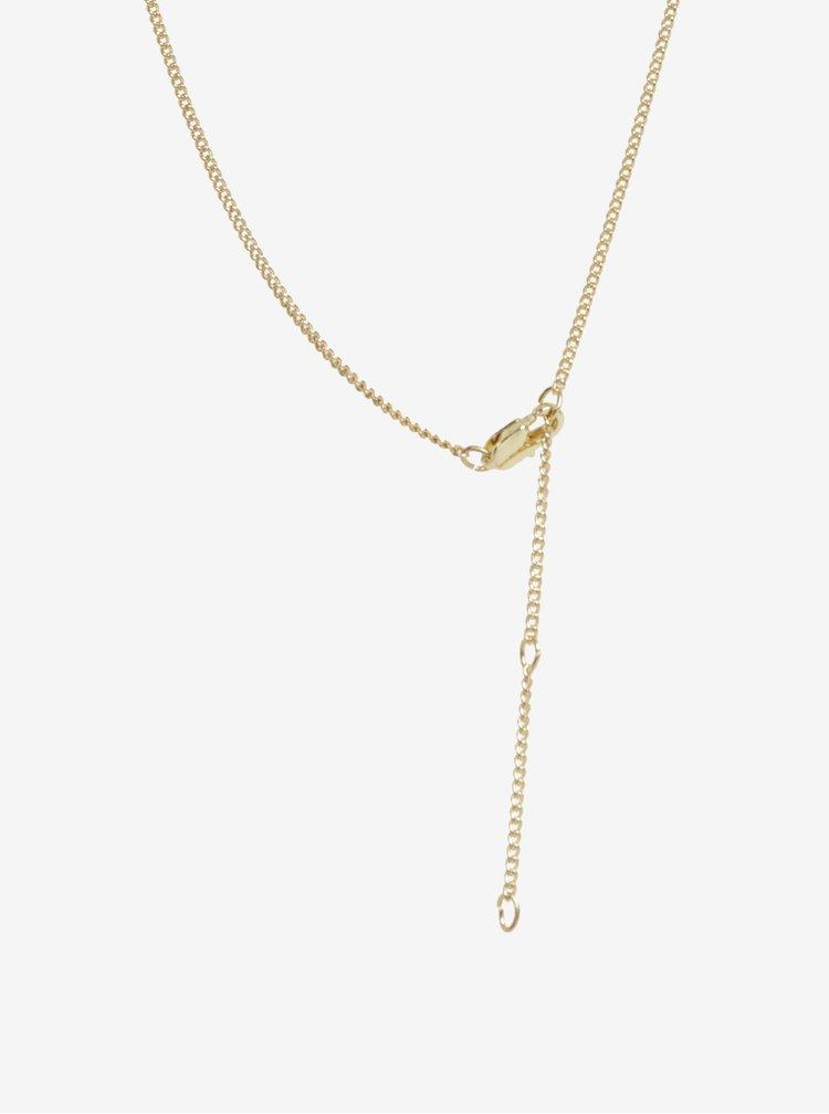 Colier auriu cu pandantiv Pieces Gabe