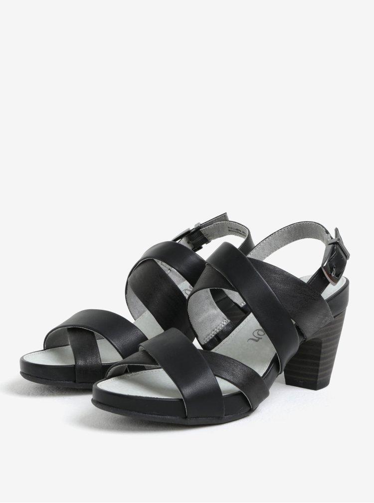 Sandale negre cu toc si barete incrucisate - s.Oliver