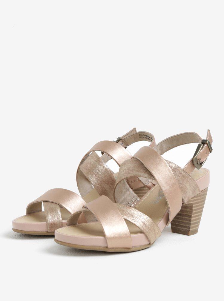 Starorůžové sandály na podpatku s.Oliver