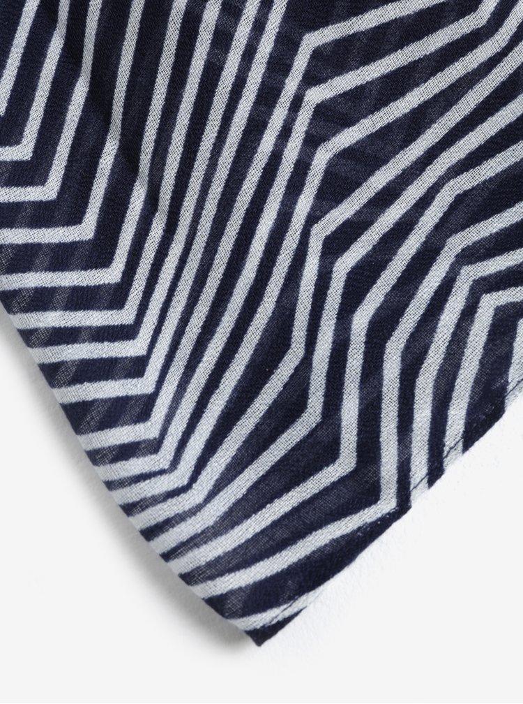 Esarfa albastra cu dungi albe - Pieces Guinevere