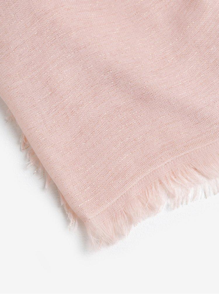 Růžový třpytivý šátek Pieces Dalissa
