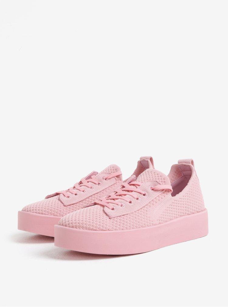 Tenisi roz cu platforma pentru femei - s.Oliver