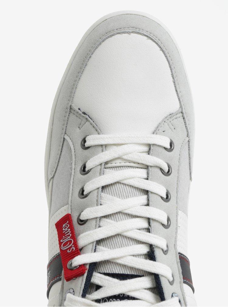 Bílo-šedé pánské tenisky s.Oliver