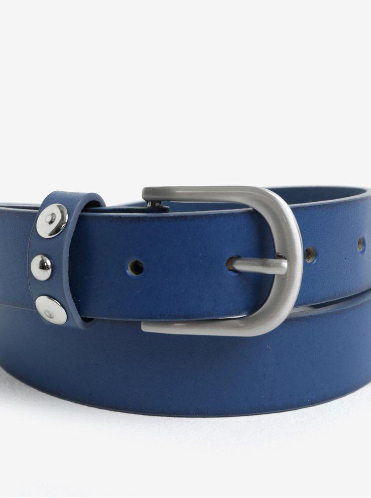 Modrý kožený pásek Pieces Imran