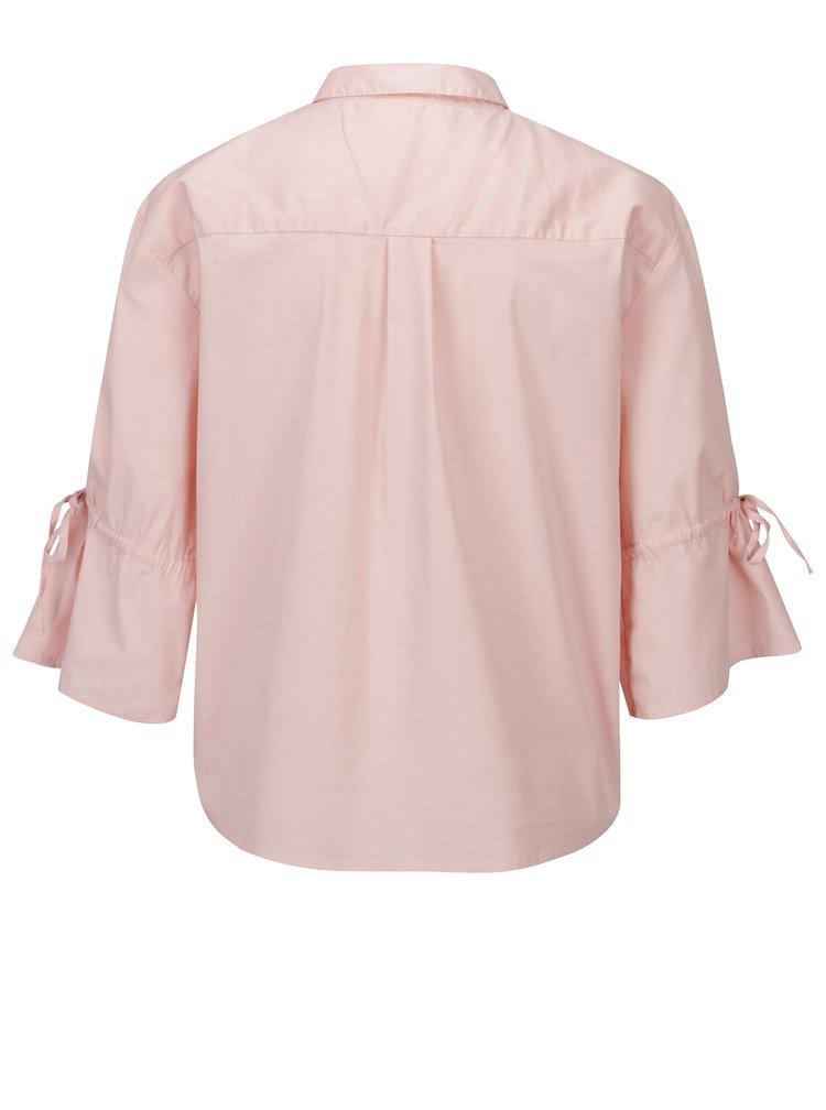 Světle růžová košile s 3/4 rukávem Jacqueline de Yong Cady