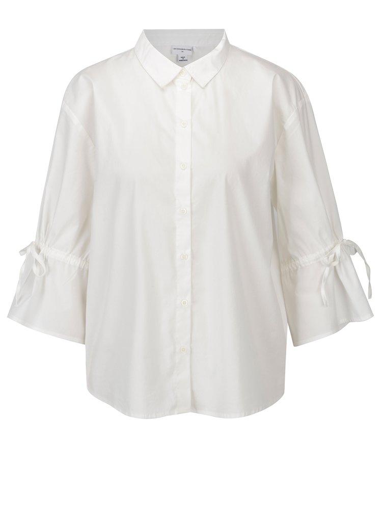 Krémová oversize košile s 3/4 rukávem Jacqueline de Yong Cady