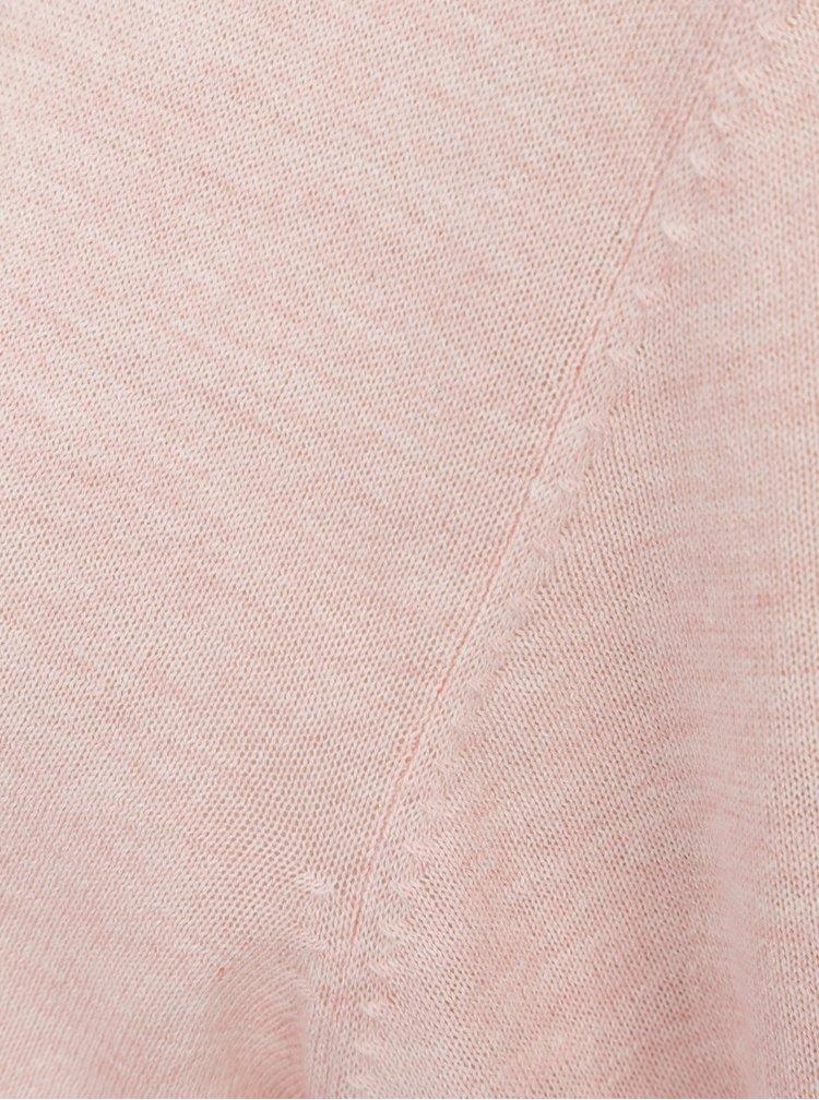 Světle růžový kardigan na zavazování Jacqueline de Yong Carmen