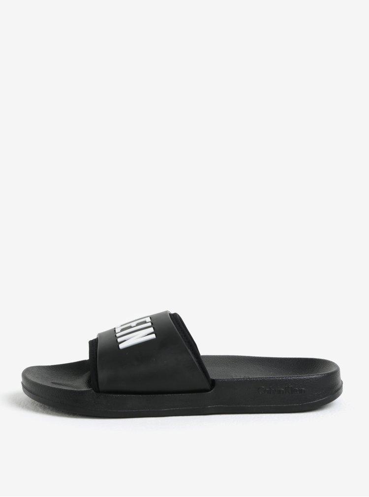 Černé unisex pantofle Calvin Klein