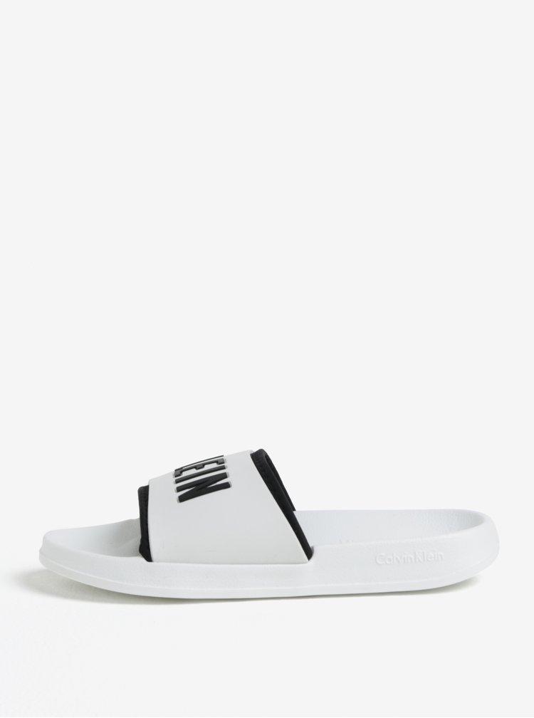 Bílé pantofle Calvin Klein Underwear