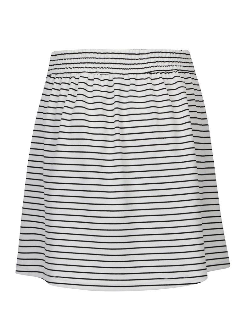 Černo-bílá pruhovaná áčková sukně Jacqueline de Yong Catia