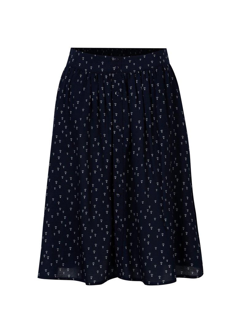 Tmavě modrá sukně s motivem kotev Jacqueline de Yong Cherry