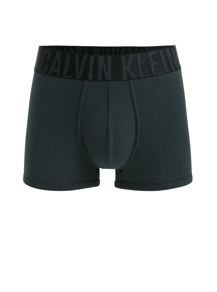 Tmavě zelené boxerky s širokou gumou v pase Calvin Klein Underwear