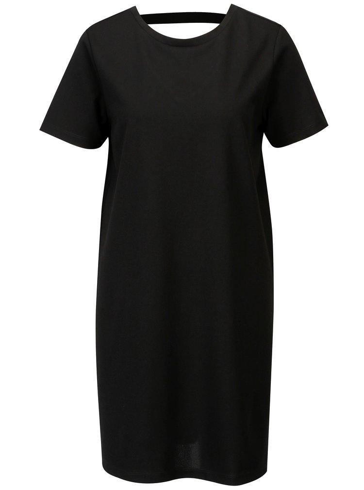 Černé šaty s výstřihem na zádech Jacqueline de Yong Catia