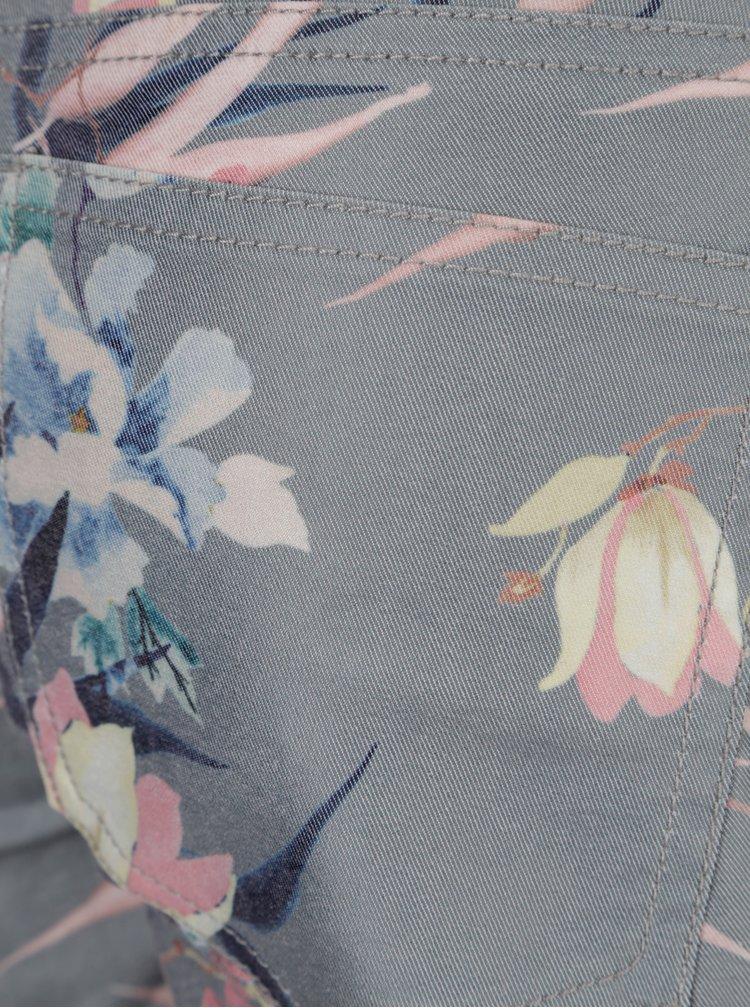 Zelené květované kraťasy ONLY Annika