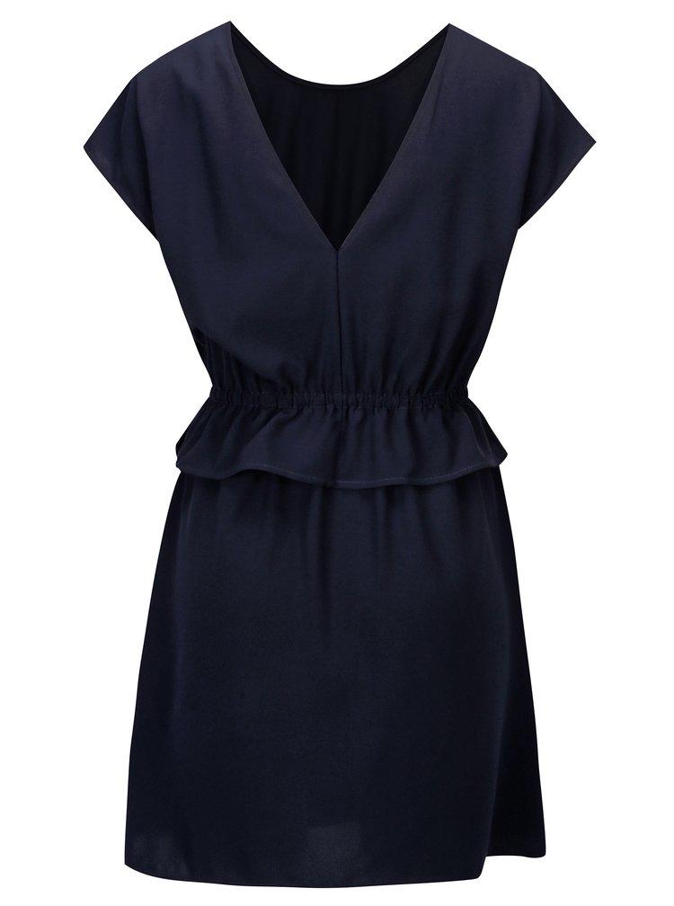 Tmavě modré šaty s výstřihem na zádech ONLY Daphne