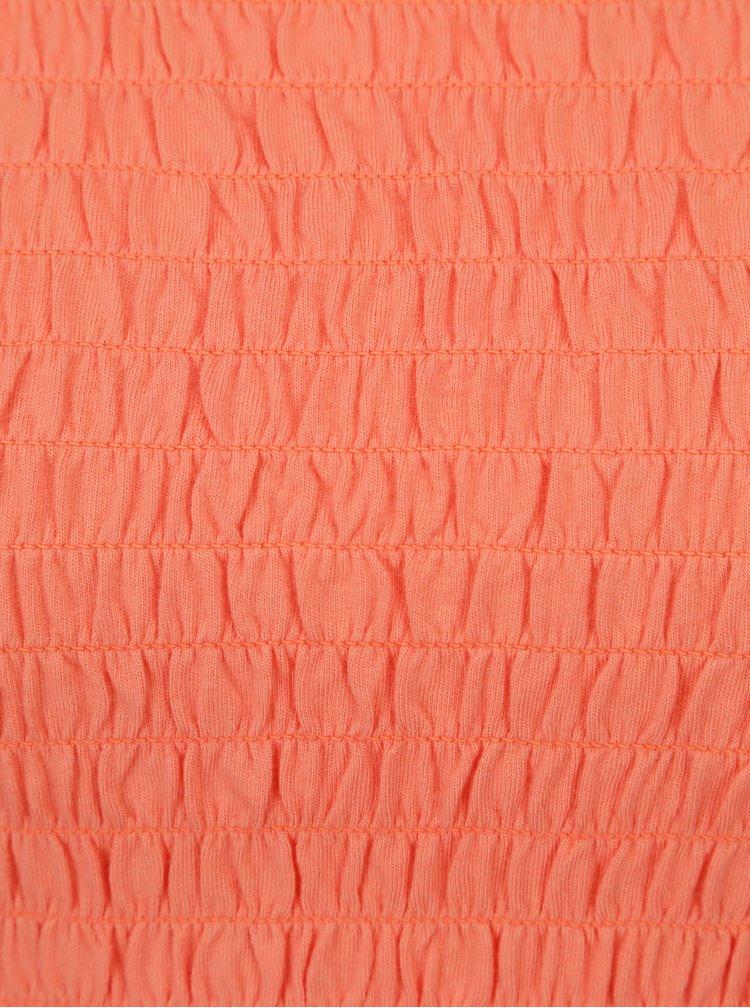 Oranžová crop top s odhalenými rameny ONLY Sammi