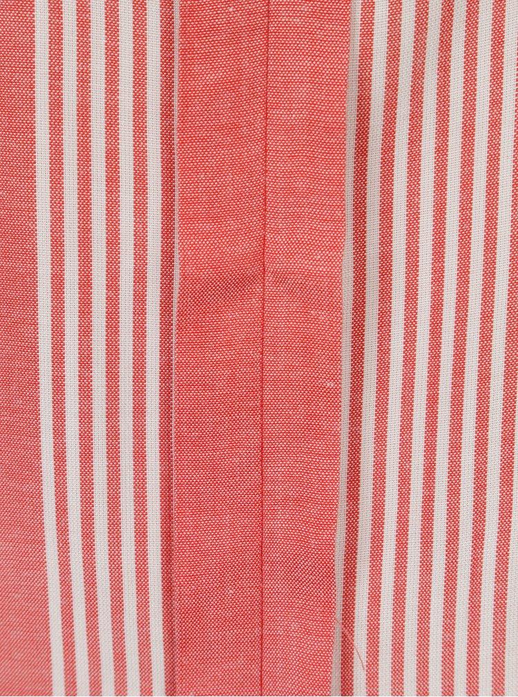 Tunica rosu cu alb cu dungi fara maneci  Jacqueline de Yong Celest