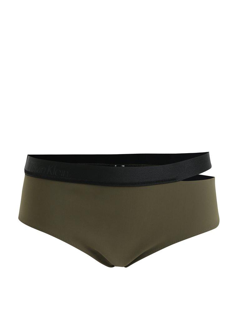 Tmavě zelený spodní díl plavek Calvin Klein