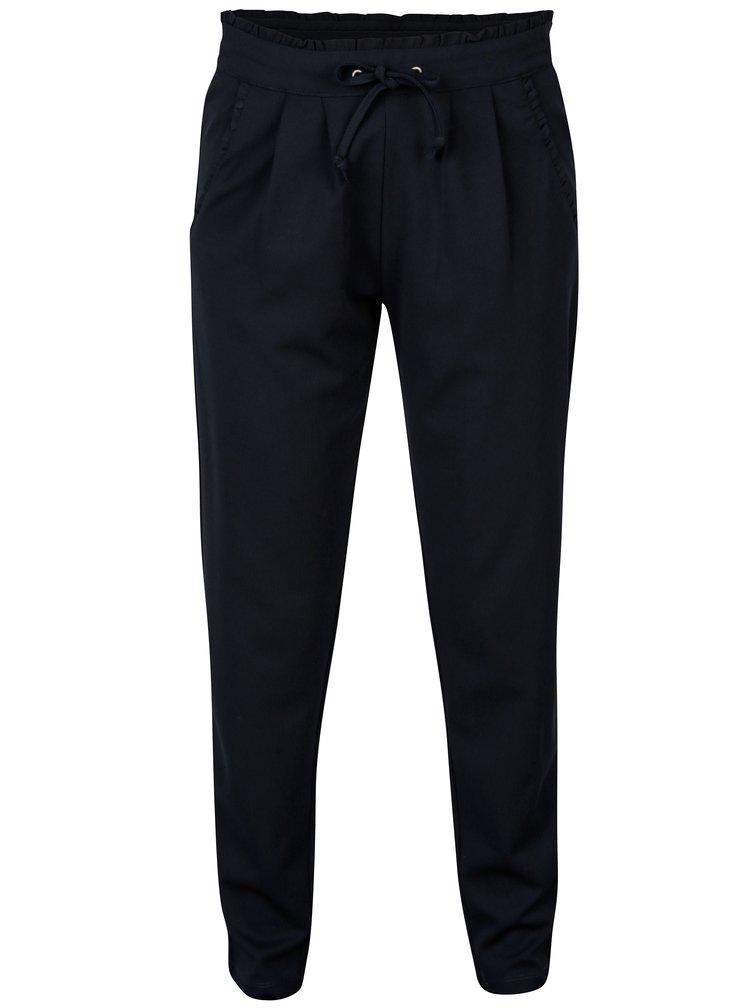 Černé kalhoty s vysokým pasem Jacqueline de Yong Catia