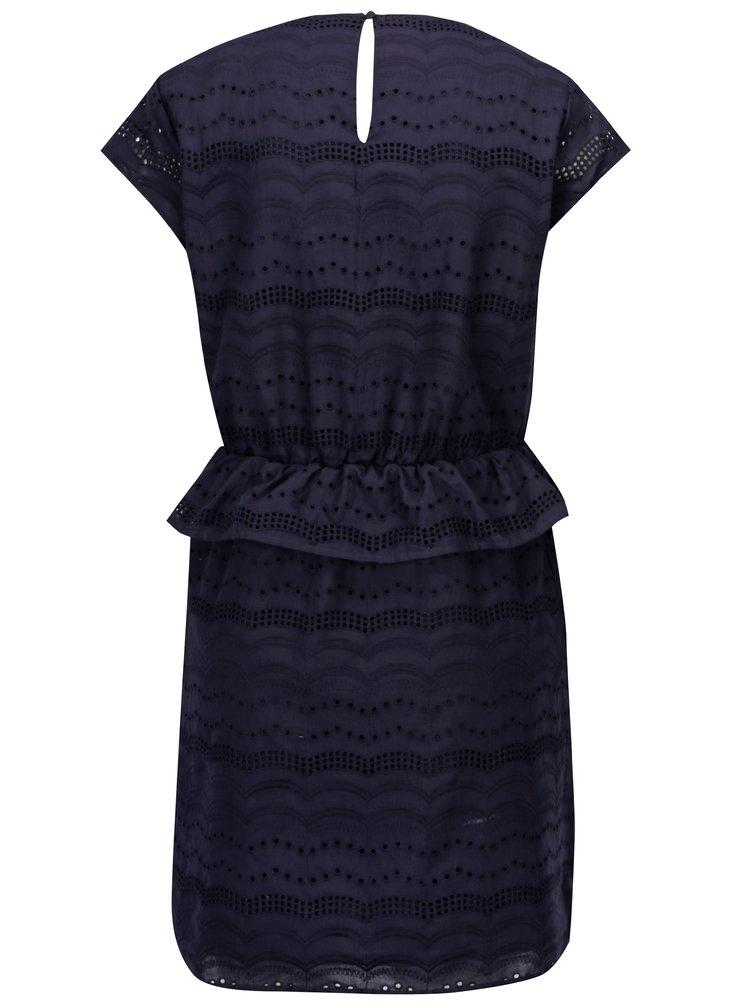 Tmavě modré šaty s madeirou ONLY Silvija