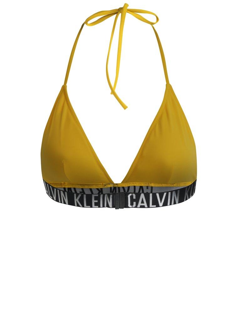 Žlutý horní díl plavek Calvin Klein Underwear