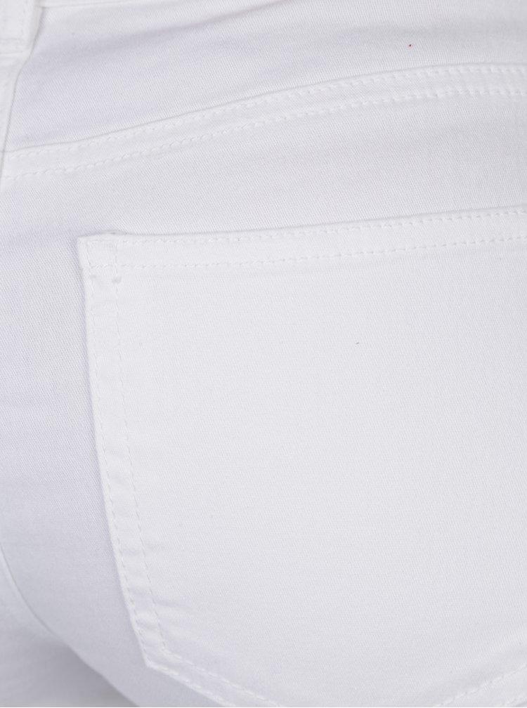 Bílé kraťasy s nízkým pasem Jacqueline de Yong Five