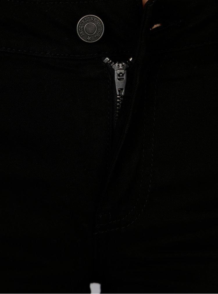 Černé kraťasy s nízkým pasem Jacqueline de Yong Five