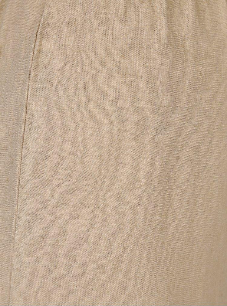 Béžové culottes s páskem ONLY Juliet