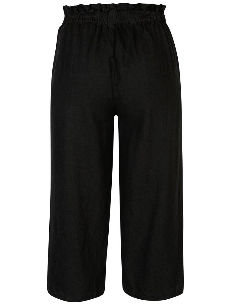 Pantaloni culottes negri cu talie inalta ONLY Juliet