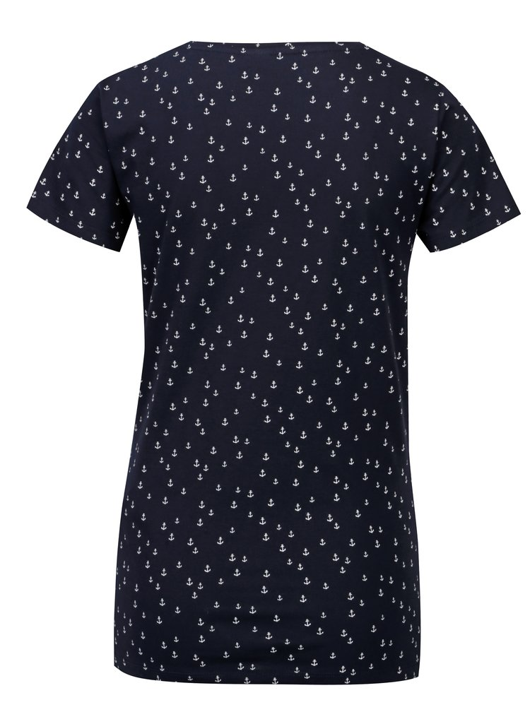 Tmavě modré vzorované tričko Jacqueline de Yong Cassandra