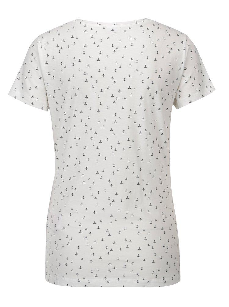 Bílé vzorované tričko Jacqueline de Yong Cassandra