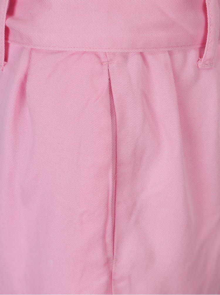 Růžové volné kraťasy s vysokým pasem ONLY Kira