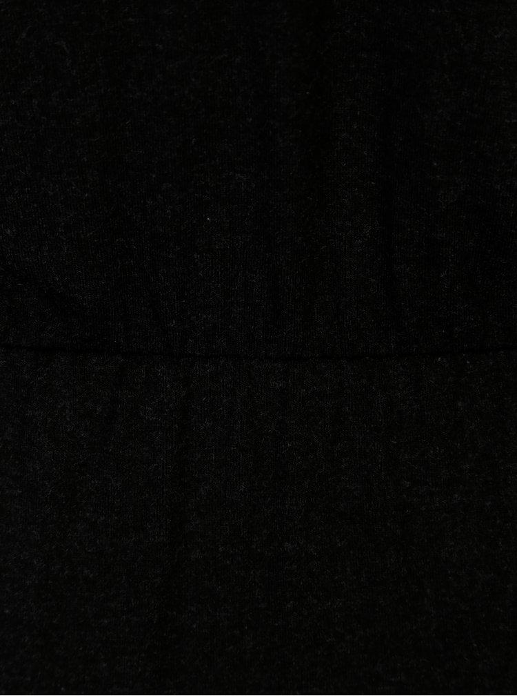 Tmavě šedé žíhané maxišaty s rozparkem ONLY Mellie