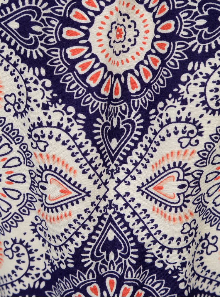 Modro krémové vzorované šaty ONLY Nova