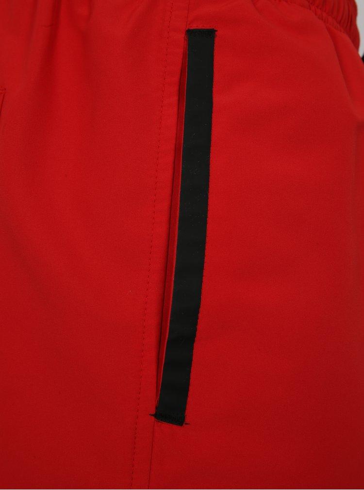 Červené pánské plavky s gumou v pase Calvin Klein
