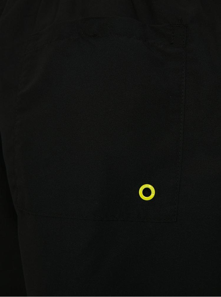 Černé pánské plavky s gumou v pase Calvin Klein
