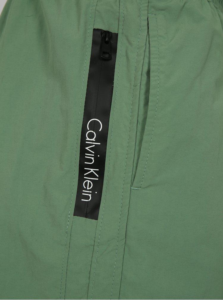 Zelené pánské plavky Calvin Klein