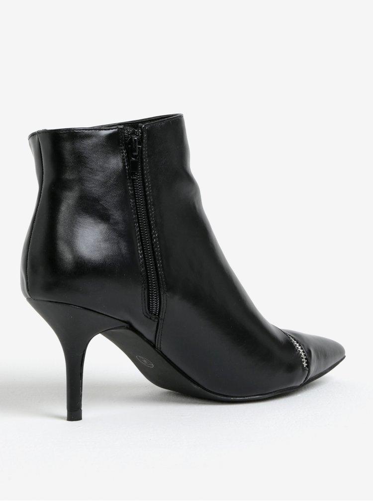 Černé kotníkové boty na jehlovém podpatku MISSGUIDED