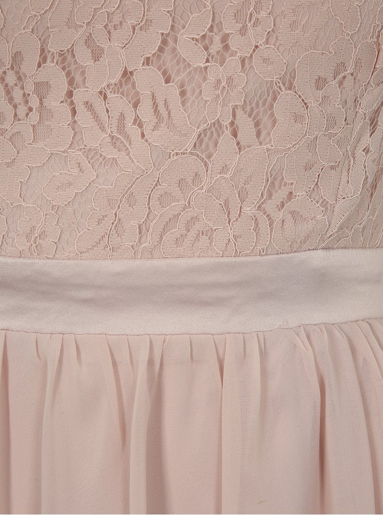 Rochie cu decolteu pe un umar roz prafuit Dorothy Perkins