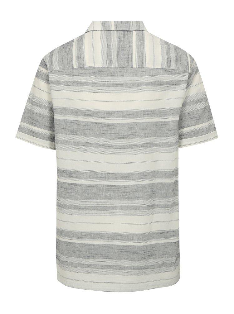 Šedo-krémová pruhovaná košile Burton Menswear London