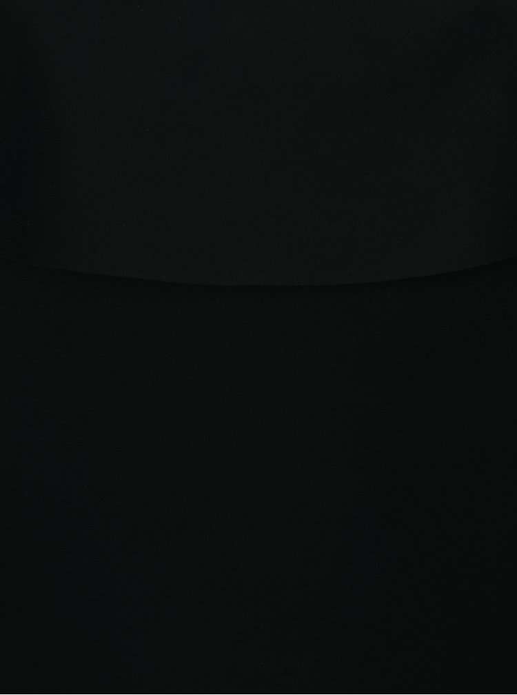 Černé jednodílné plavky s volány Dorothy Perkins