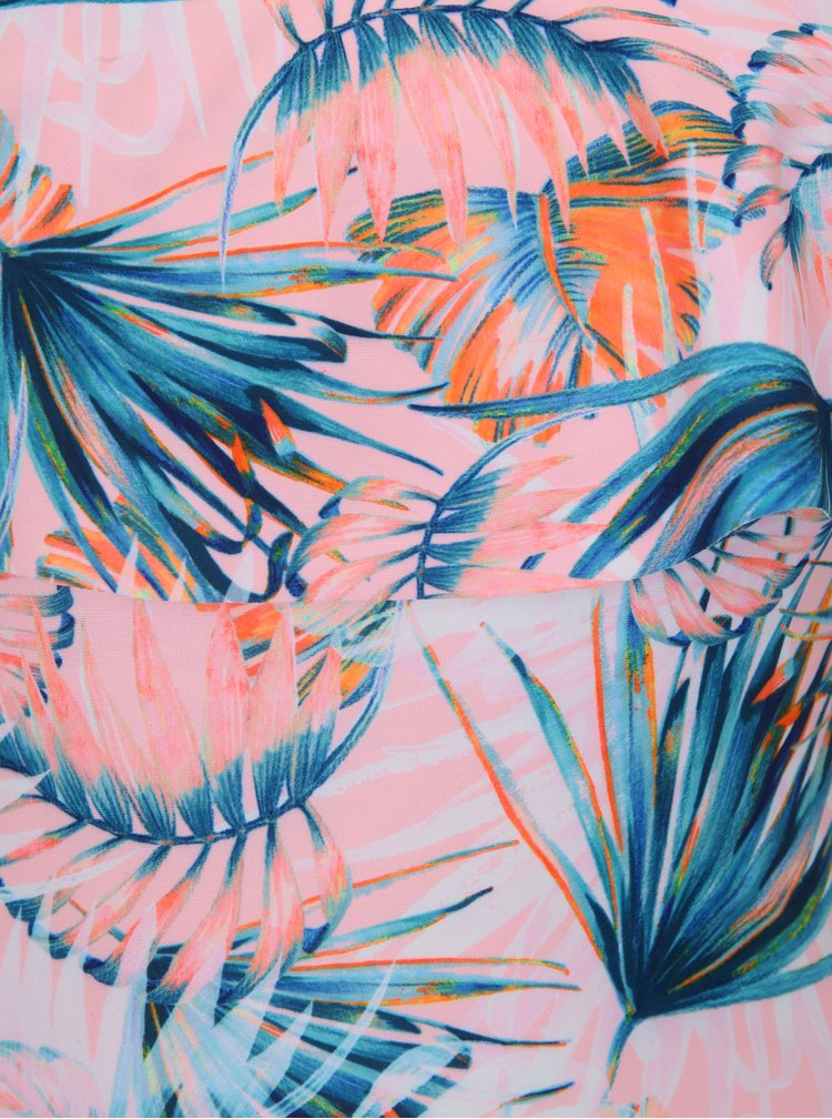 Růžové jednodílné plavky s volánem Dorothy Perkins