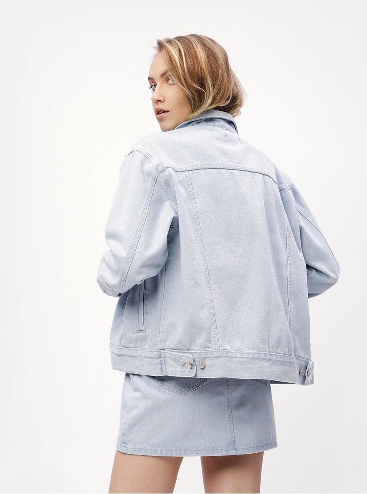 Jacheta bleu oversized din denim MISSGUIDED