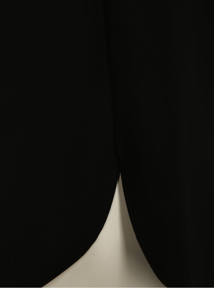 Černá halenka se zdobenou kapsou Dorothy Perkins