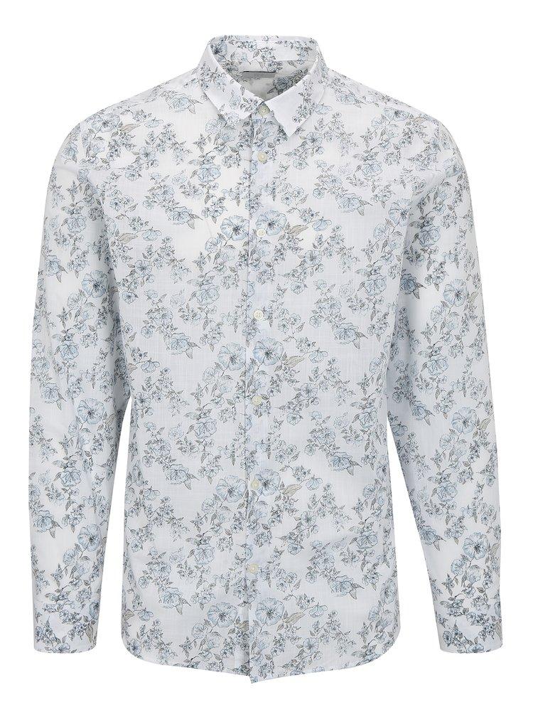 Bílá květovaná košile Selected One Florals